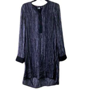 VINCE Shirt dress deep navy/violet &white SIZE: S